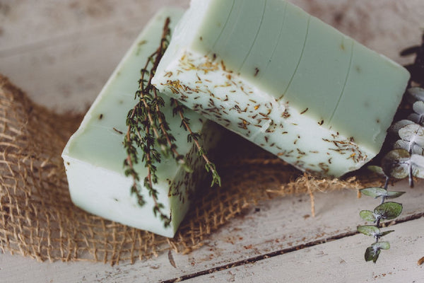 Eucalyptus Thyme Organic Handmade Soap. This natural handmade soap hydrates while it cleans