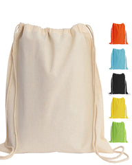 Economical Sport Cotton Drawstring Bag Backpack Cinch Packs