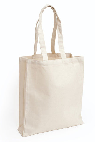 Cheap Canvas Tote Bag / Book Bag with Gusset - TF220