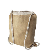 Affordable Jute Burlap Drawstring Backpacks
