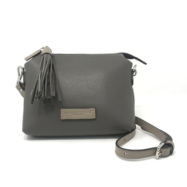 Adria Crossbody Bag Fog Grey with Taupe