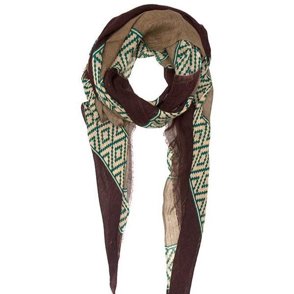 Linen Scarf Peru Brown