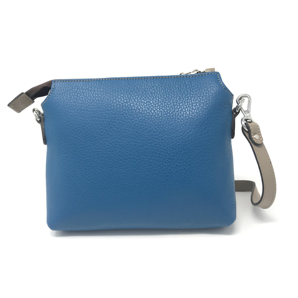 Adria Crossbody Bag Blue with Taupe