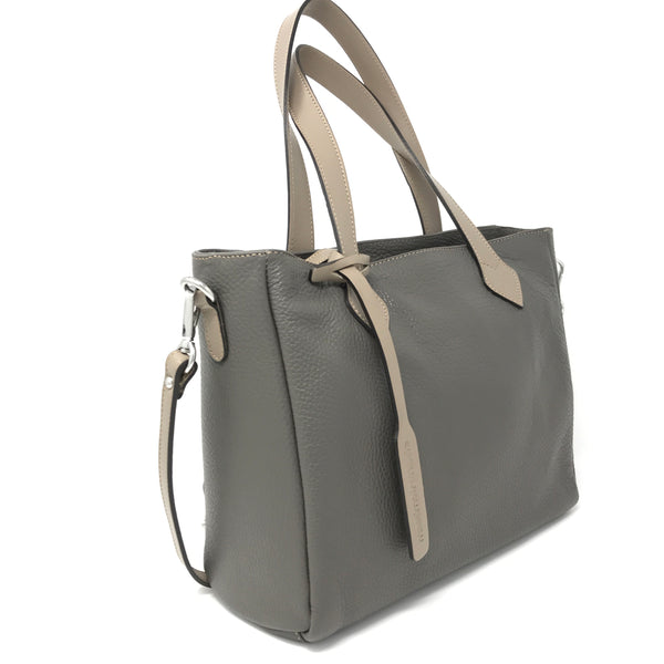 Crossbody Tote Fog with Taupe