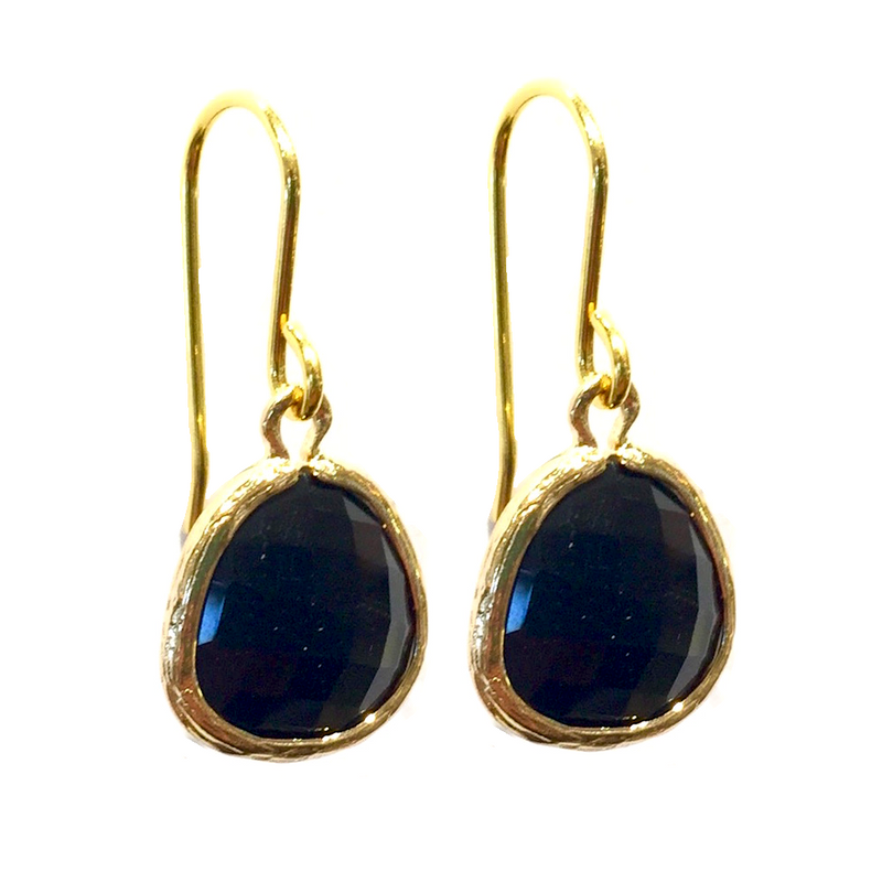 India Earrings - Black Onyx