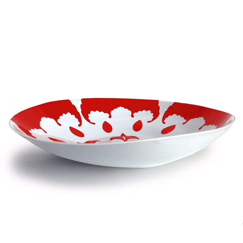 Iskander Red Wide Low Salad Bowl