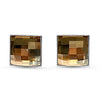 Chessboard Crystal Stud Earrings