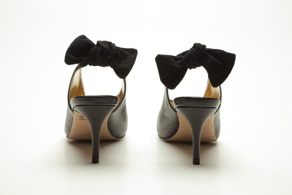 SS17007 Pointy Sling back heel with removable bow 25% off - Sam Star shoes