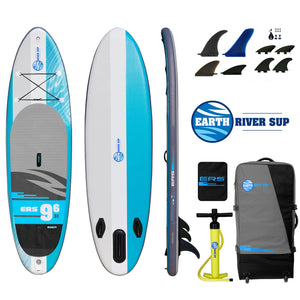 "Earth River SUP 9-6 V3 Inflatable Paddle Board 2019 (9'6""x31""x5"")"