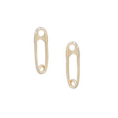 14K Gold Safety Pin Stud Earring