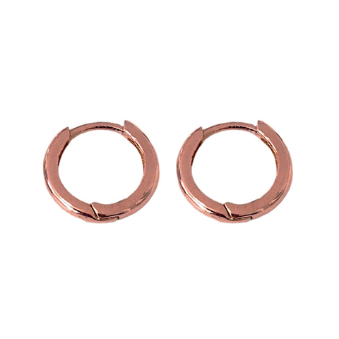 14K Gold Small Size (9mm) Huggie Hoop Earrings