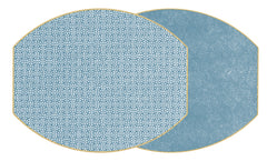 SAYAGATA Two Sided Reversible Hardboard Handcrafted Wipeable Placemat Chinese Blue