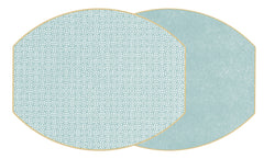 SAYAGATA Two Sided Reversible Hardboard Handcrafted Wipeable Placemat Sea