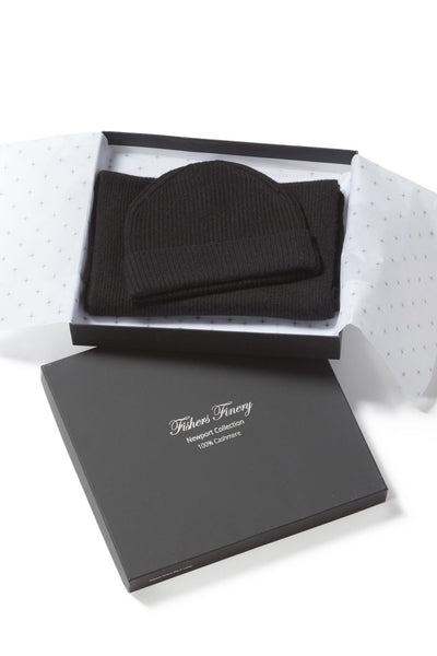 Men's 100% Pure Cashmere 2pc Rib Knit Set with Gift Box - Fishers Finery
