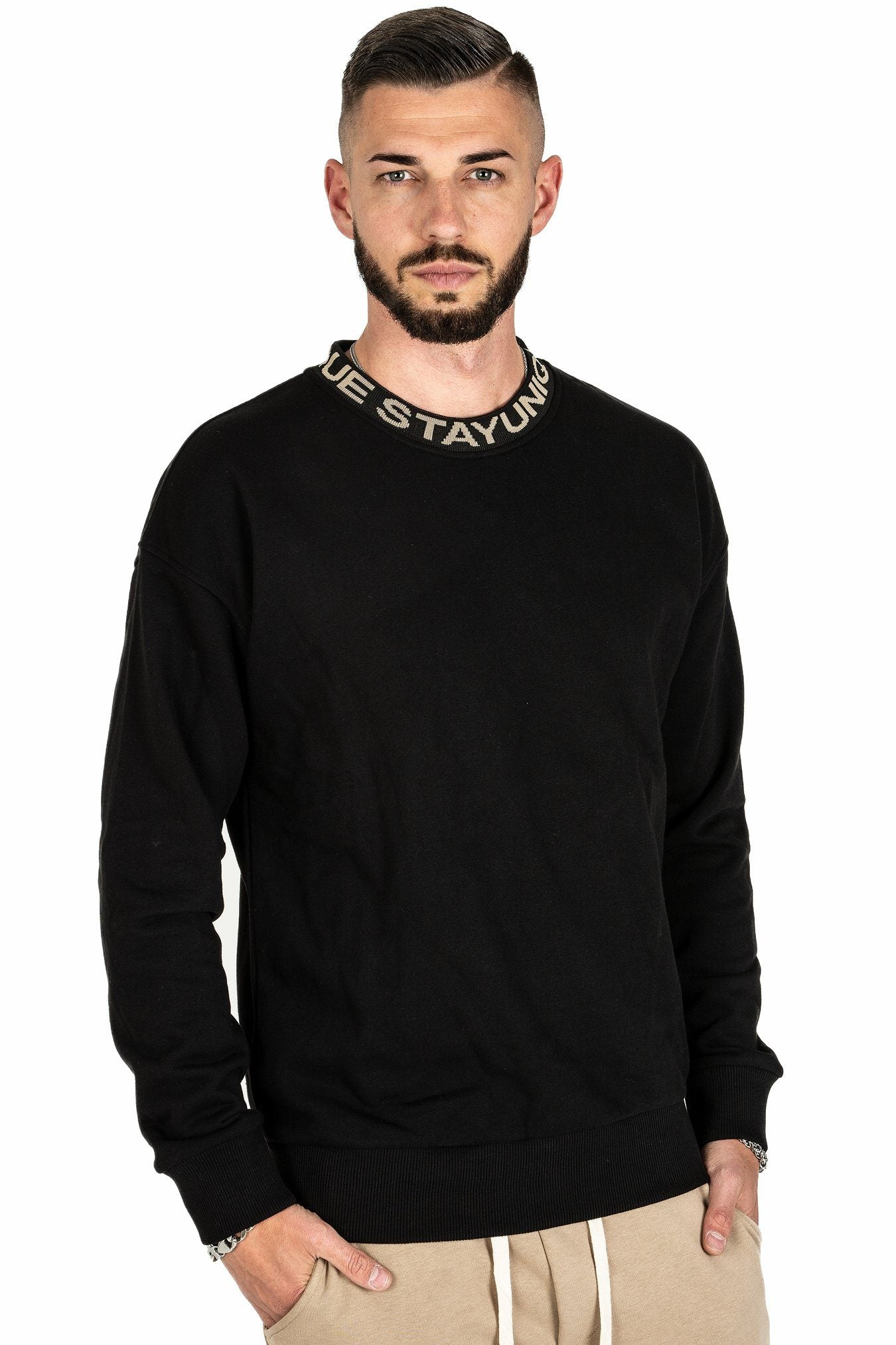 Fio Oversized Crewneck Black - PEGADOR - Dominate the Hype