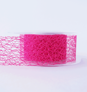 Mesh Ribbon Hot Pink - 5mt Length