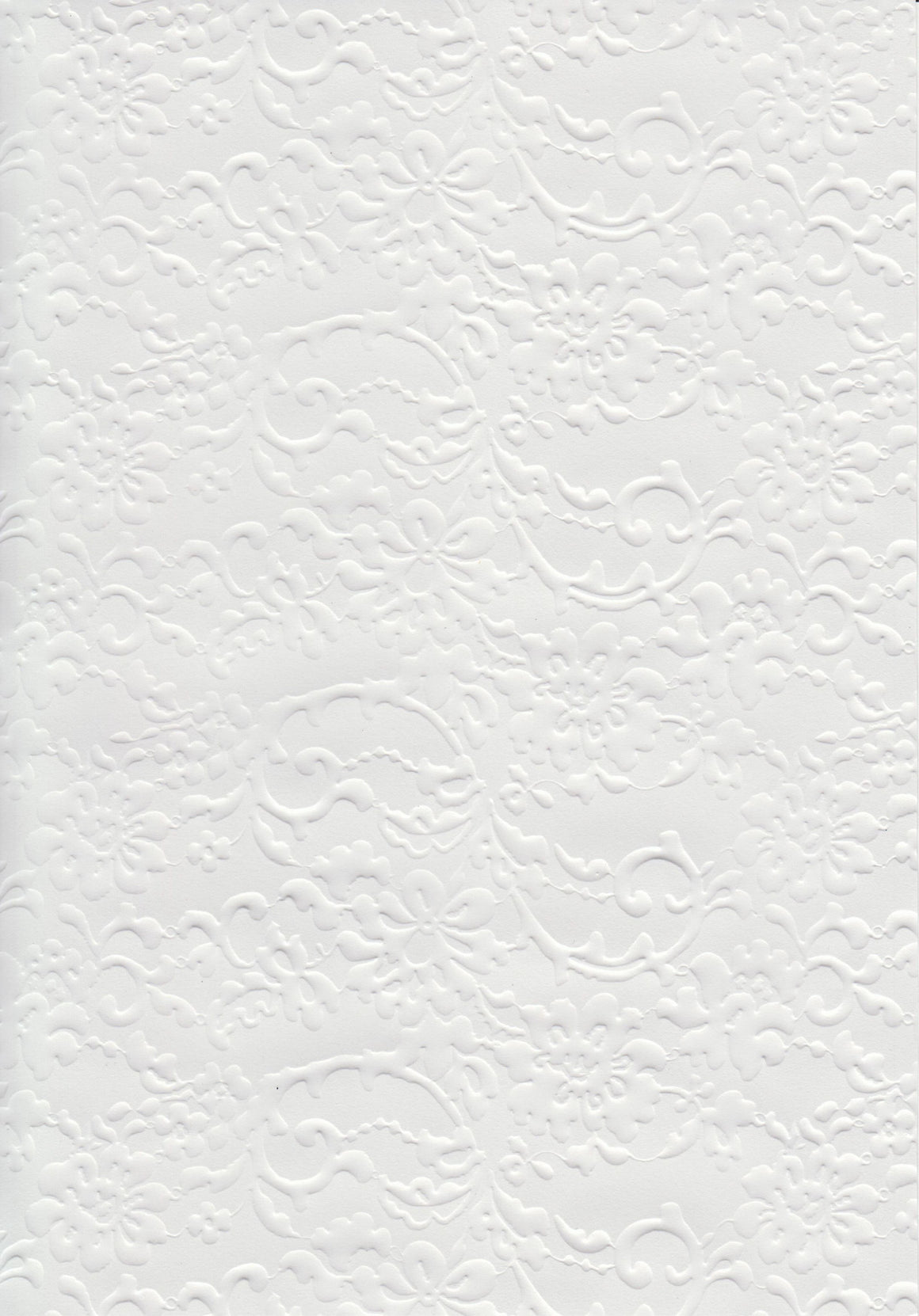 English Lace Pearl A4 Paper