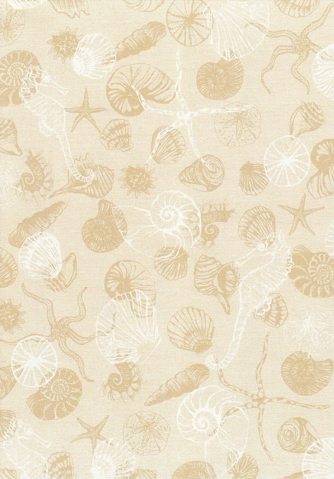 Sea Shell on sand Linen A4 Paper