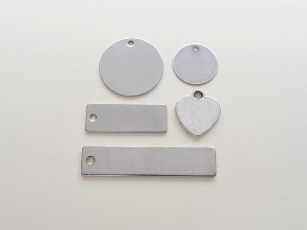 Add On Tag with Your Custom Engraving to Add to Your Keychain Purchase, Select Tag Size and Shape