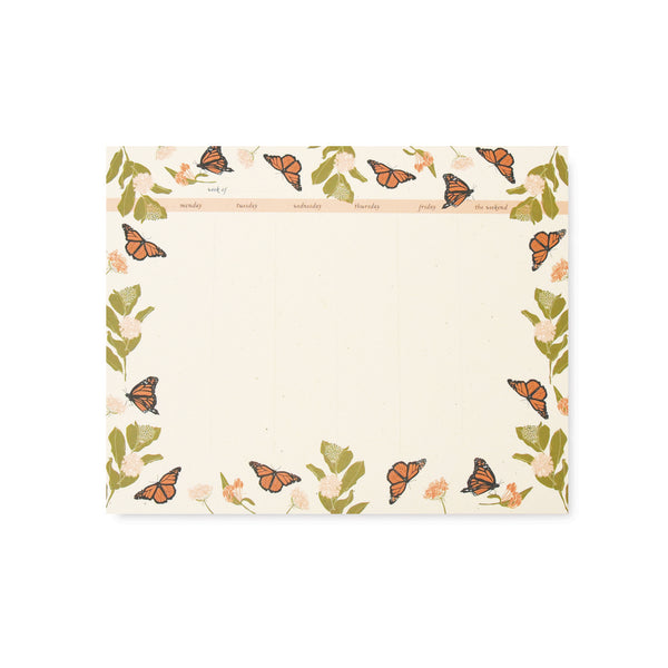 Monarchs Weekly Desk Pad
