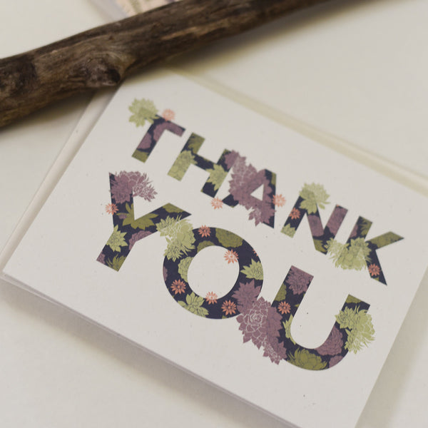 Succulent Thank You Cards : Boxed Set of 8