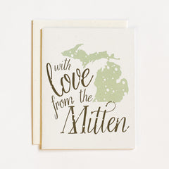 Holiday Love From the Mitten Card : Color Options