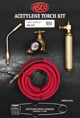 Acetylene Torch Kit w/Spring End Hose AKJ1S JET Air