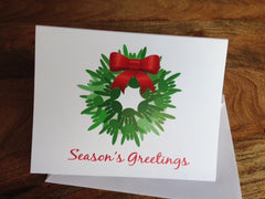 "6 ASL ""I Love You"" Holiday Wreath greeting card - Season's Greetings"