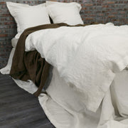 Linen Duvet  Bedding Set Ivory