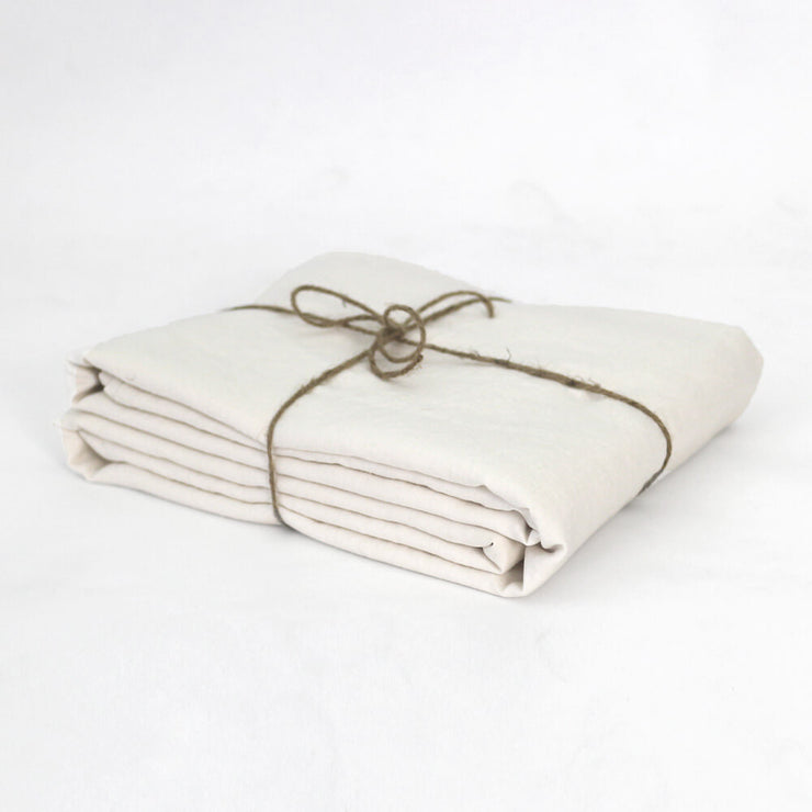 Ivory Linen Duvet Cover Well Folded