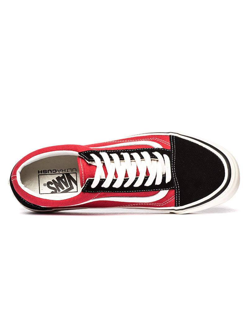 UA OLD SKOOL 36 DX ANAHEIM FACTORY IN RED AND BLACK
