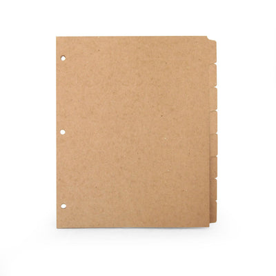 ReTab 8-Tab Binder Dividers (10 sets) - Three hole punched