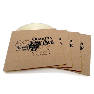 Custom Screen Printed Recycled CD Sleeve - Single Disc
