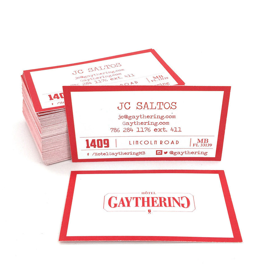 Recycled Business Cards - Natural White Stock, clean look