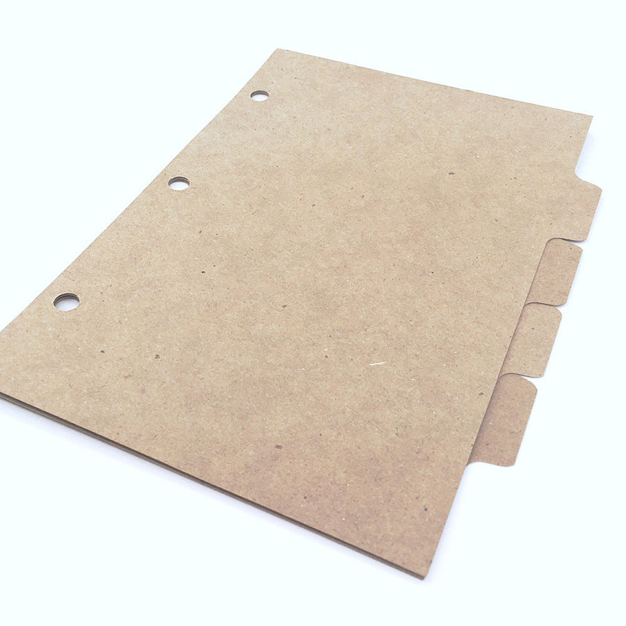 Mini Recycled Binder Dividers - ReTab 4-Tab