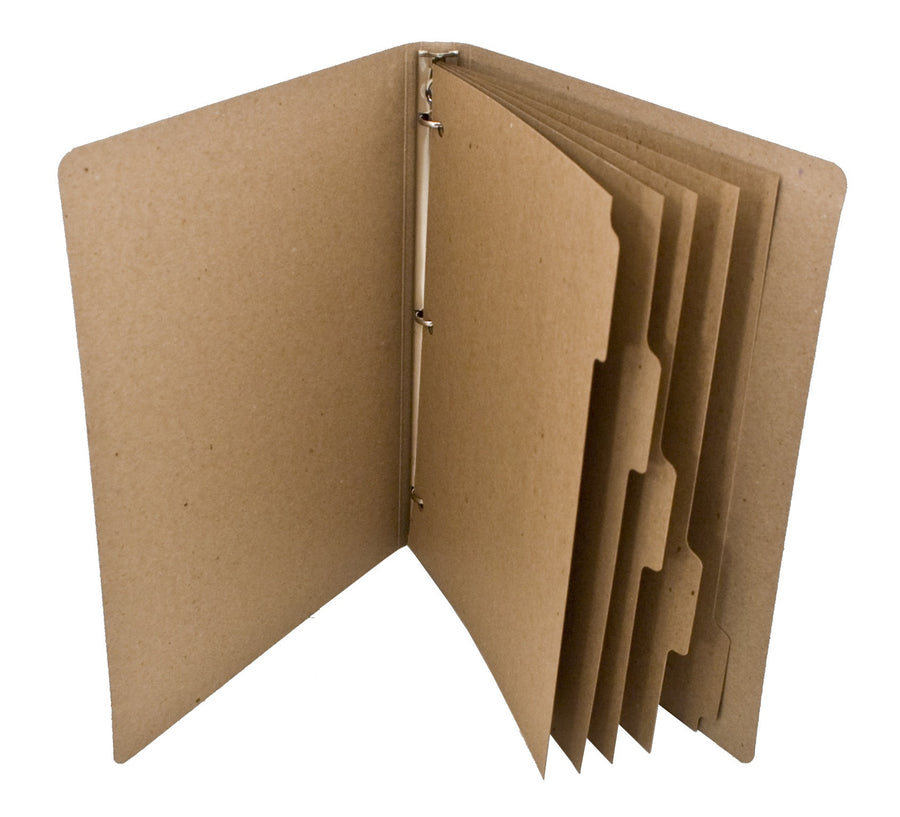 ReTab 5-Tab Binder Dividers (10 sets) - Brown Kraft