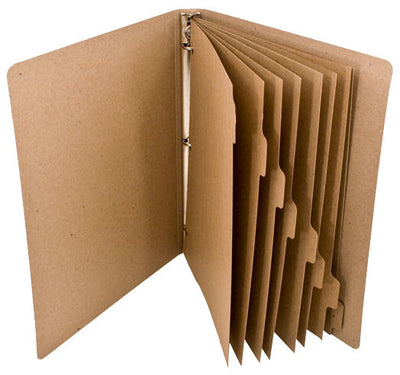 ReTab 8-Tab Binder Dividers (10 sets) - Natural Brown Kraft