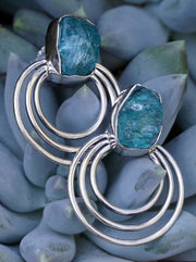 Apatite and Sterling Earring Set 2
