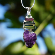Tourmaline Pendant 3 with Amethyst