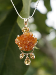 Honey Citrine Rough Pendant 2