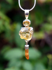 Honey Citrine Rough Pendant 3