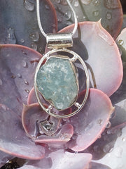 Aquamarine Rough Pendant 1