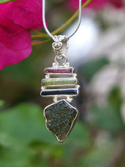 Tourmaline Pendant 1 with Moldavite
