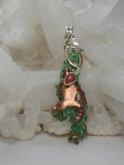Native Copper Artisan Pendant 1 with Fire Opal
