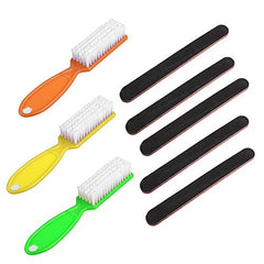 Nail Care Emery Board (5-Pack) and Nail Scrub Brushes (3-Pack)
