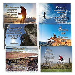 NewEights Adventure Inspirational Quotes Postcards Cards Set (60 Pack)