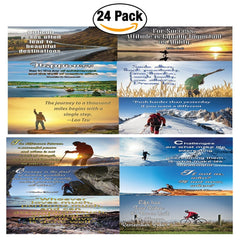 NewEights Life Inspirational & Adventure Motivational Quotes Posters (24 Pack) - 12 Unique Designs ( 2pcs each)