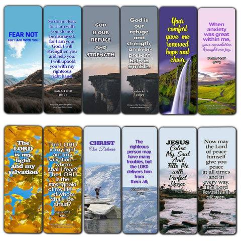 Powerful Bible Verses Bookmarks - God is in Control