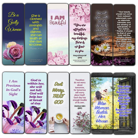 Devotional Bible Verses for Women Bookmarks