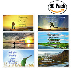 NewEights Inspirational Quotes Postcards (60 Pack) Bulk Collection & Gift wih Inspirational , Motivational ,Encouragement Messages
